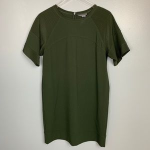 Vince Forest Green Loose Fit Dress